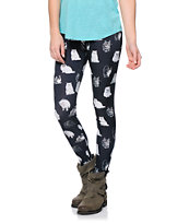See You Monday Allover Kitty Black Leggings