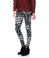 See You Monday Black & Grey Tribal Print Sweater Leggings