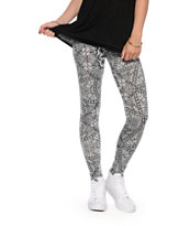 See You Monday Black & White Geometric Print Leggings