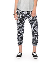 See You Monday Black & White Tie Dye Jogger Pants