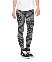 See You Monday Black Bandana Leggings