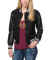 See You Monday Black Varsity Jacket