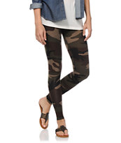 See You Monday Camo Printed Leggings