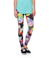 See You Monday Celestial Kitty Face Printed Leggings