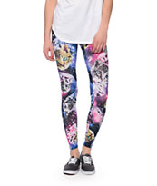 See You Monday Diamond Space Kitty Printed Leggings