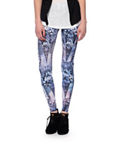 See You Monday Mirrored Diamonds Printed Leggings