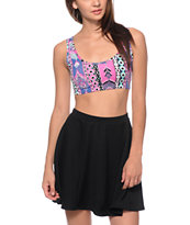 See You Monday Multi Tribal Crop Tank Top