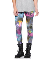 See You Monday Multicolor Galaxy Print Leggings