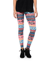 See You Monday Multicolor Tie Dye Print Leggings