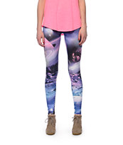 See You Monday Planet Galaxy Print Leggings