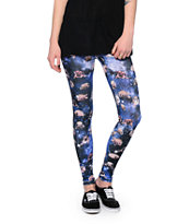See You Monday Pug Galaxy Print Leggings