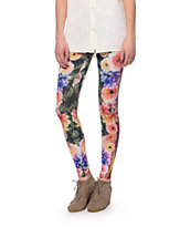See You Monday Tribal Floral Print Leggings