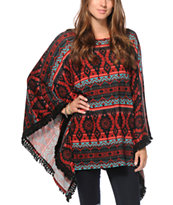 See You Monday Tribal Fringe Poncho