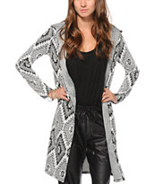 See You Monday Tribal Hooded Kimono