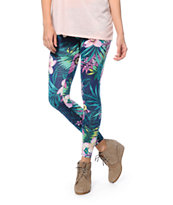See You Monday Tropical Palm Print Leggings