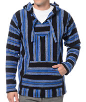 Senor Lopez Black & Royal Blue Poncho