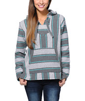 Senor Lopez Girls Coco Loco Graphite & Mint Poncho