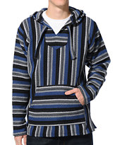 Senor Lopez Steel, Blue, & Grey Poncho