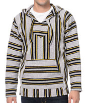 Senor Lopez White, Yellow & Black Poncho