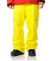 Sessions 2012 Zoom 10K Yellow Snowboard Pants