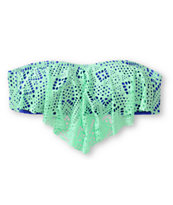 Since By Malibu Cali Crochet Flounce Bikini Top