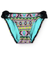 Since By Malibu Queen Of Diamonds Hipster Tab Side Bikini Bottom