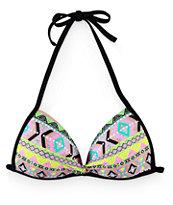 Since By Malibu Queen Of Diamonds Molded Cup Bikini Top