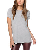 Sirens & Dolls Basic Slit Grey T-Shirt