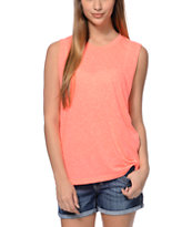 Sirens & Dolls Coral Kiss Muscle Tank Top