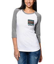 Sirens & Dolls Geo Tribal Pocket Baseball T-Shirt
