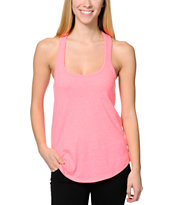 Sirens & Dolls Hot Pink Nubby Racerback Tank Top