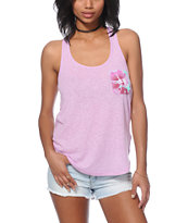 Sirens & Dolls Lily Swirl Tie Dye Pocket Tank Top