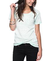 Sirens & Dolls Mint Geo Tribal Reverse Print T-Shirt