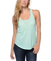 Sirens & Dolls Mint Green Nubby Racerback Tank Top