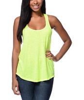 Sirens & Dolls Neon Yellow Nubby Tank Top