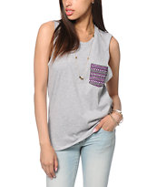 Sirens & Dolls Stone Pocket Muscle Tee