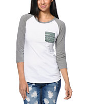 Sirens & Dolls Stone Tribal Pocket Baseball Tee