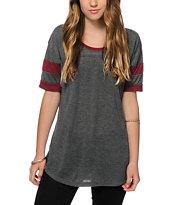 Sirens & Dolls Varsity Charcoal T-Shirt