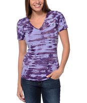Sirens & Dolls Venus Wash Berry Purple V-Neck Tee Shirt