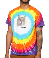 Skate Mental A Cat Tie Dye T-Shirt
