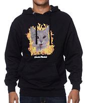Skate Mental Evil Cat Black Pullover Hoodie