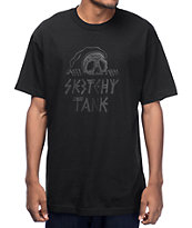 Sketchy Tank Lurk Black On Black T-Shirt