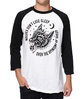 Sketchy Tank Sleep Baseball T-Shirt