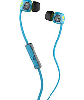 Skullcandy Smokin Buds 2 Cyan & Lime Green Earbuds
