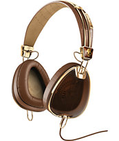 Skullcandy x Roc Nation Aviator Mic'd Brown & Gold Headphones