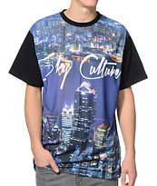 Sky Culture City Black Sublimated Tee Shirt