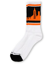 Skyline Socks San Francisco Black & Orange Crew Socks