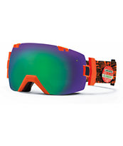 Smith I-O X W3 Orange & Green Sol-X 2014 Snowboard Goggles