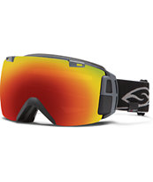 Smith IO Recon Black 2014 GPS & HUD Snowboard Goggles