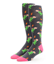Sock It To Me Dinomite Black Women's Knee Socks